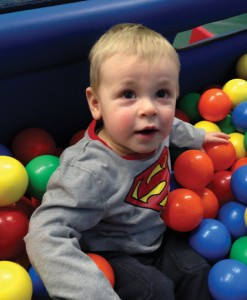 Alex Bohemier had a stroke at birth. Thanks to early diagnosis, he is doing well at almost two years old