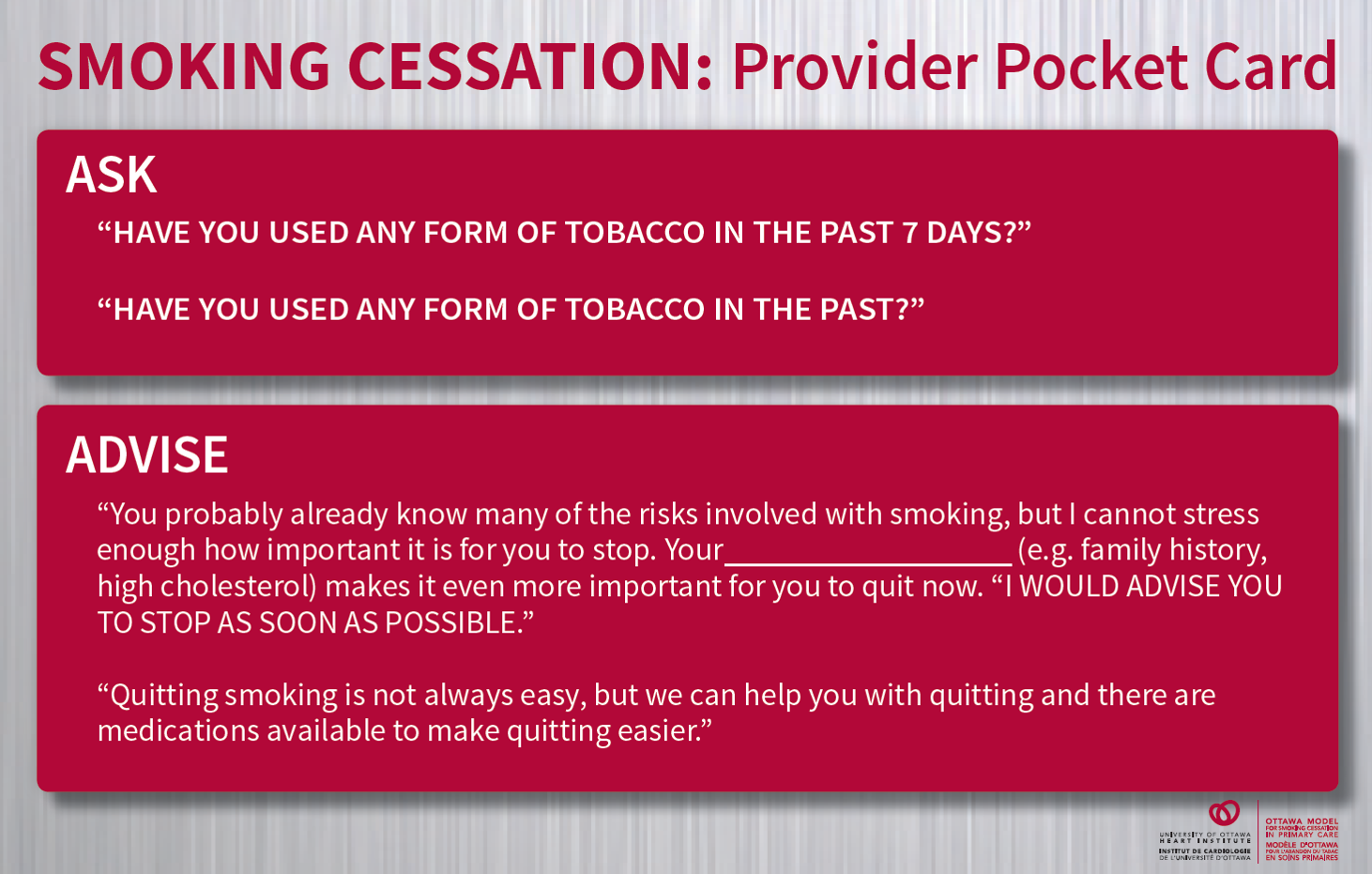 an image of the downloadable omsc health care provider pocket card